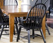 17-Treasure Oak & Black Dining